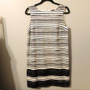 Ann Taylor Black and White Sleeveless Dress